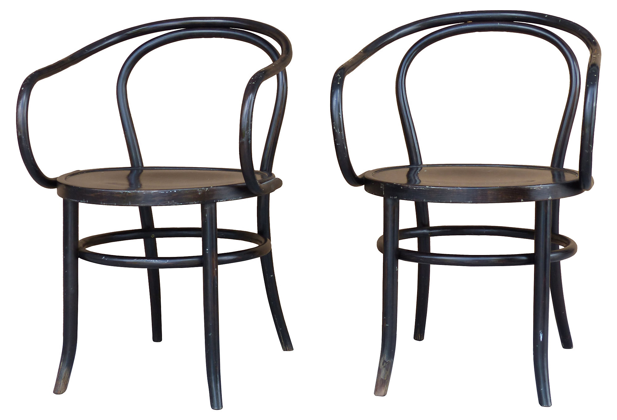 Pair Of Thonet Bentwood Cafe Chairs