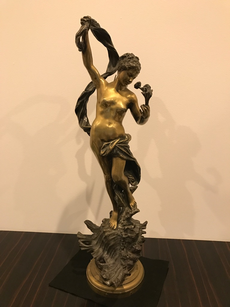 Signed Luca Madrassi Bronze Sculpture Quot Fairy Of The Sea