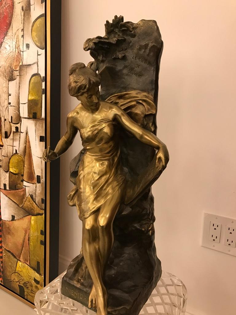 Bronze Sculpture Quot Memoria Quot Signed By Emile Louis Picault