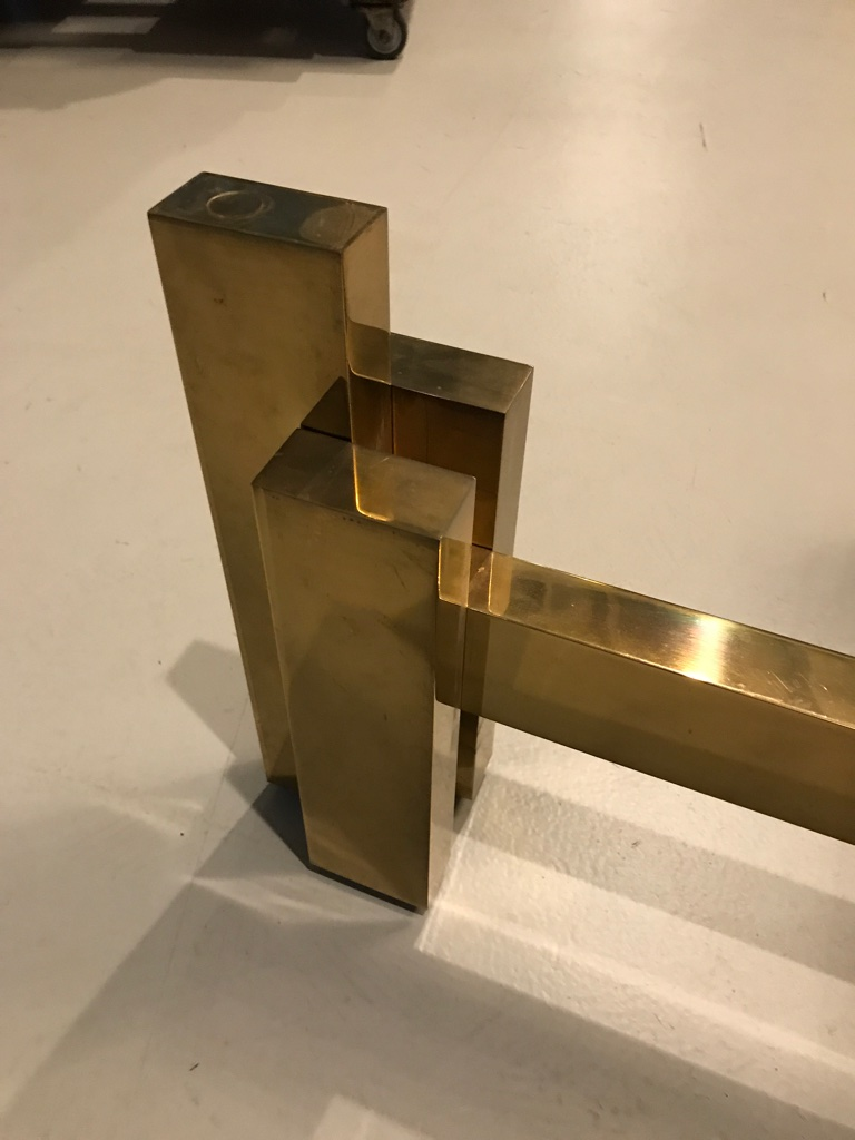Picture of: Mid Century Brass Coffee Table Base Modernism