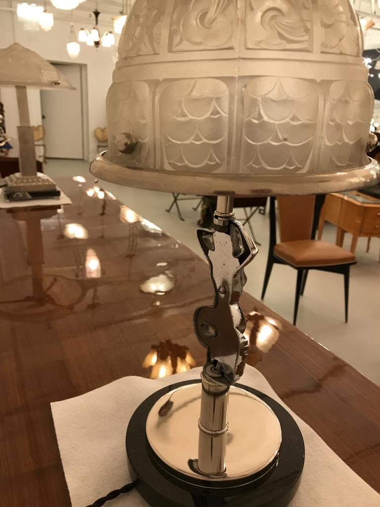 Mermaid table lamp - French Art Deco Mermaid Table Lamp By Genet Et Michon