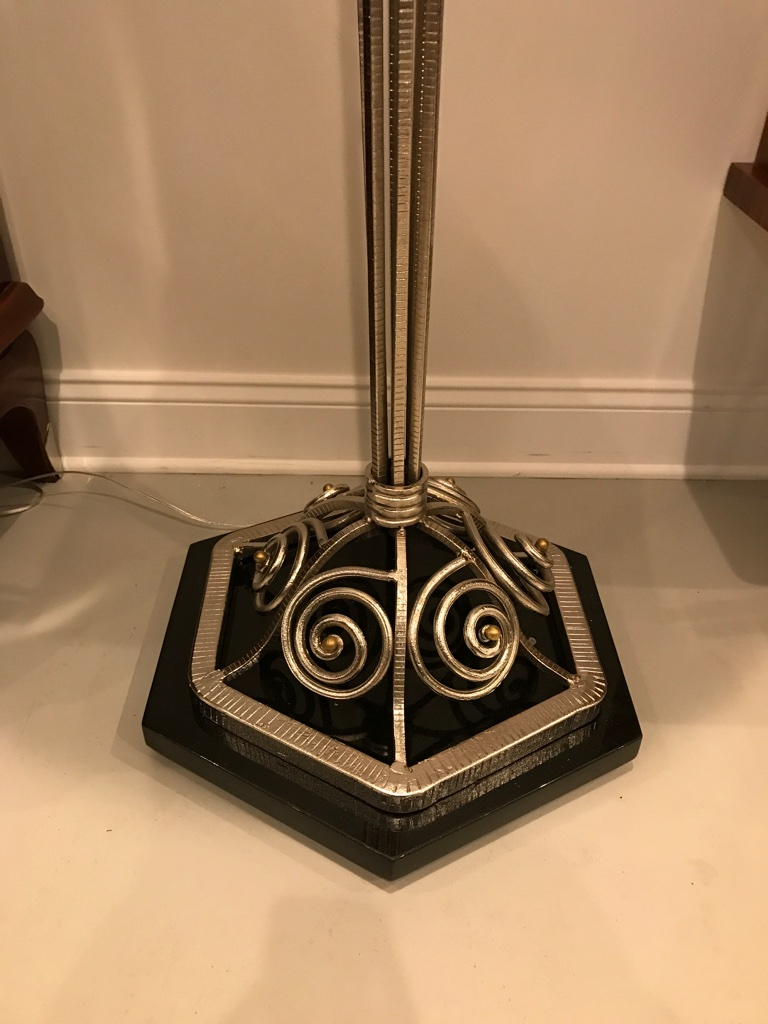 Pair Of French Art Deco Floor Lamps With Marble Base