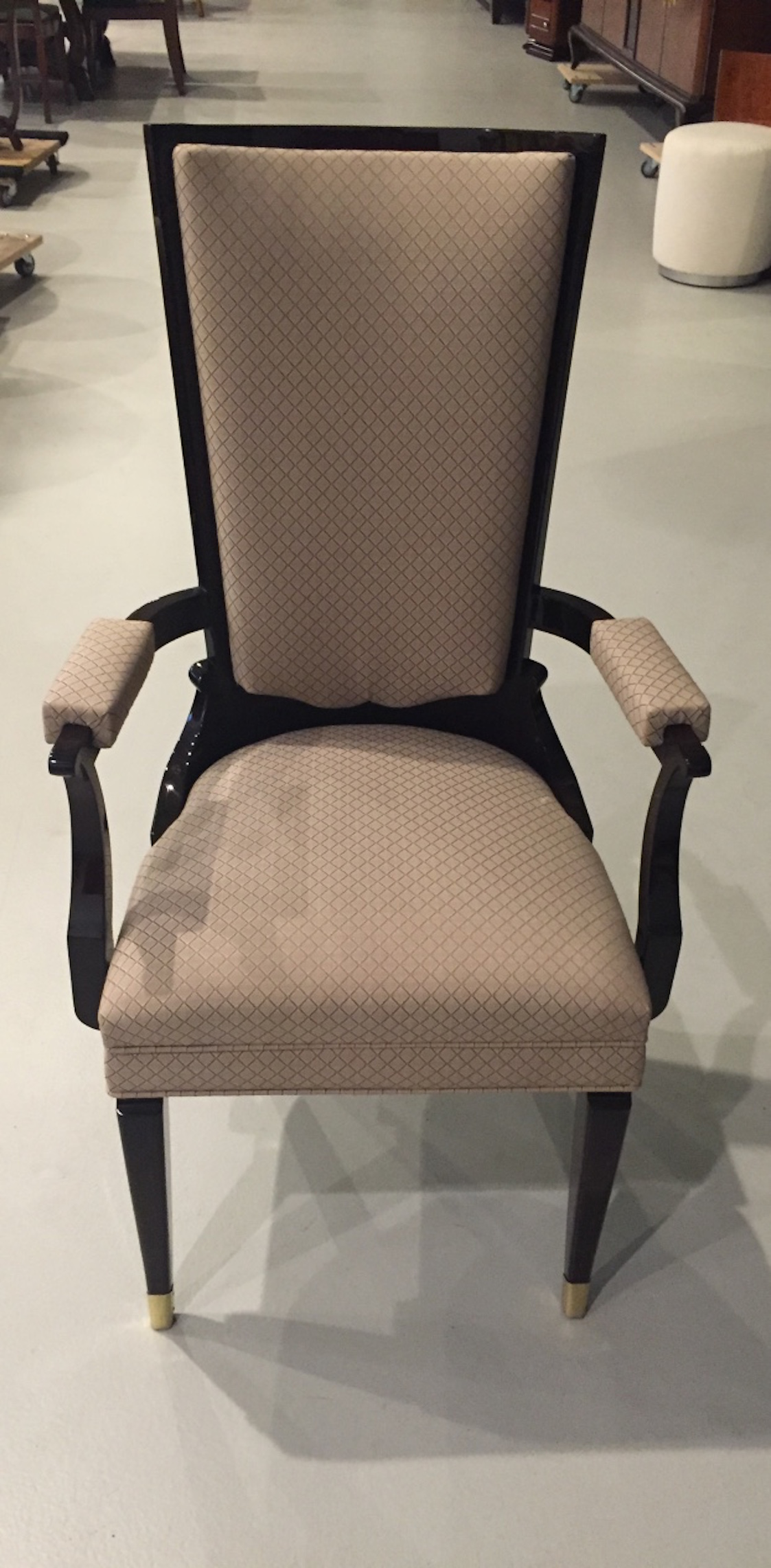 Set 8 French Art Deco Dining Chairs In The Style Leleu