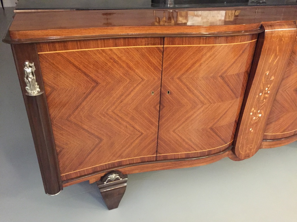 French Art Deco Buffet With Beautiful Mother Of Pearl Inlay | Modernism