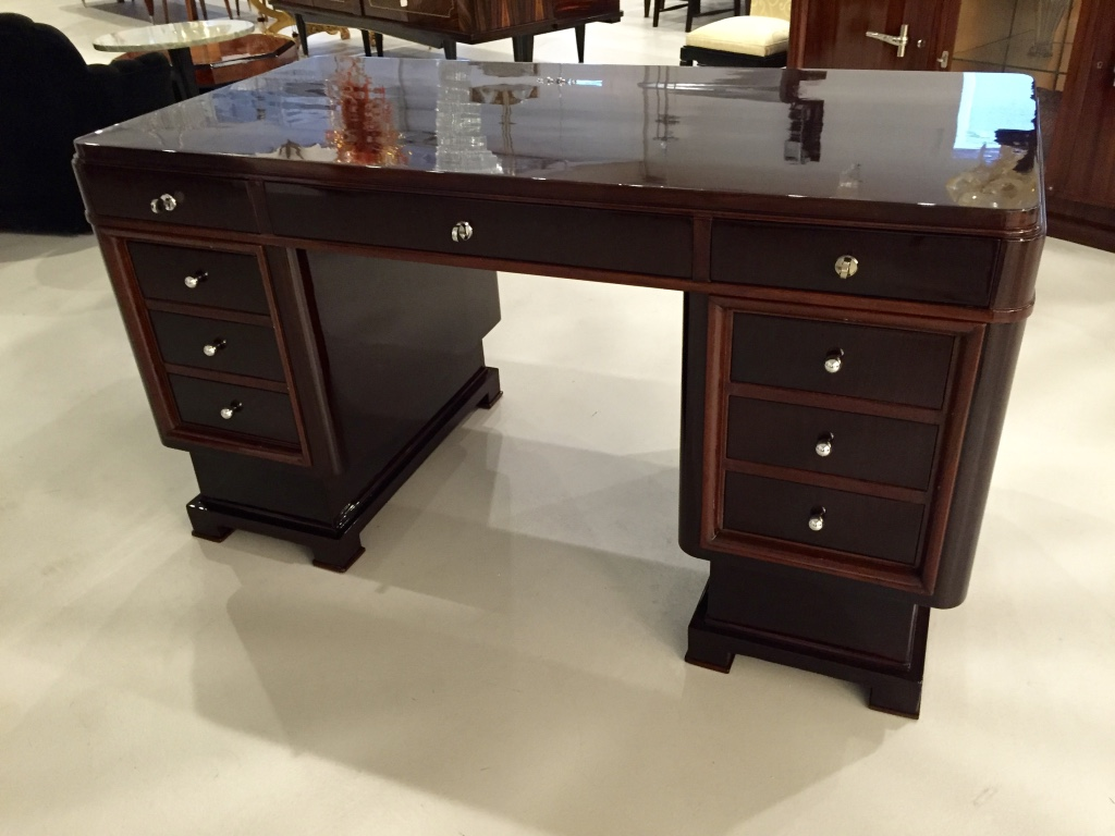 Stunning French Art Deco Two Tone Desk