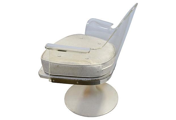 Ordinaire Mid Century Modern Vladimir Kagan Lucite Swivel Chairs