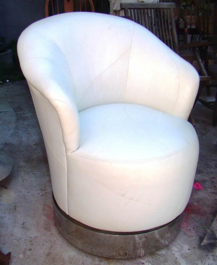 J robert scott pair leather 80 39 s swivel club chairs for 80s lounge chair