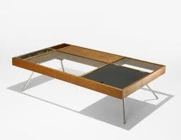 milo baughman coffee table for Genn of California c.1948 with Greta Grossmann