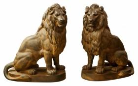 antoine durenne lions sculpture