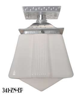 A very large 1970 39 s chromed metal 12 shade pendant light for Arts and crafts flush mount lighting