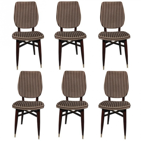 set 6 french art deco solid mahogany dining chairs art deco dining 6