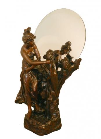 Important Art Nouveau Lamp Mirror Modernism