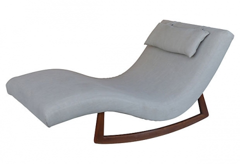 Adrian pearsall double wide rocking chaise modernism for Adrian pearsall rocking chaise