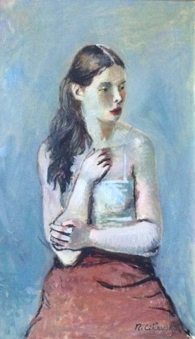 Nicolai Cikovsky Russian American Portrait C 1940 Modernism