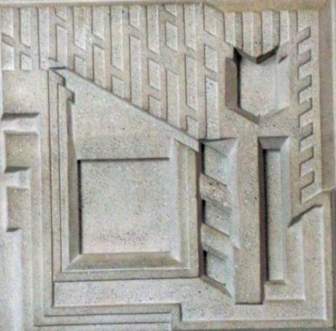 Cement Mold For The Samuel Freeman House 1923 Modernism