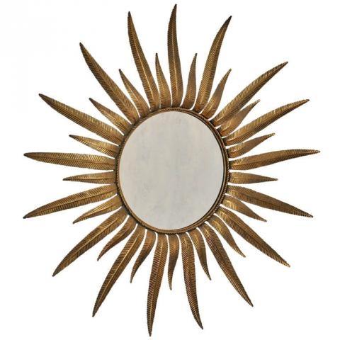 Sunburst Wall Mirror 1940's french sunburst mirror in gilt metal | modernism