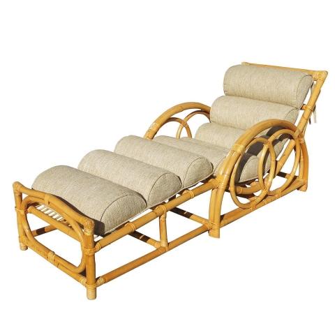 Half moon rattan chaise longue chair modernism for Chaise longue rattan