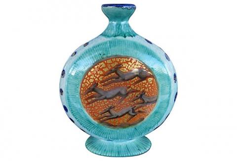 Jean Mayodon Art Deco Ceramic Glazed Vase Modernism