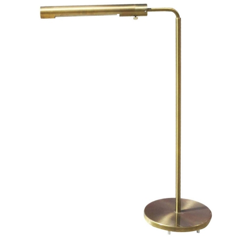 Long cylinder form brass reading floor lamp by casella for Casella brass floor lamp
