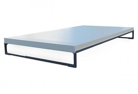 B b italia antonio citterio solo low profile coffee table for Modern low profile coffee tables