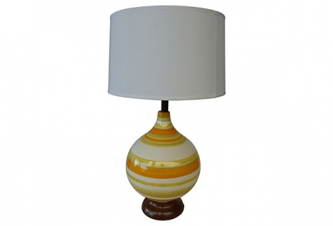Mid Century Modern Ceramic Table Lamp Modernism