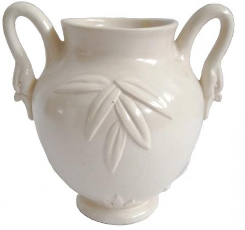 Weller American Art Deco White Ceramic Vase Modernism