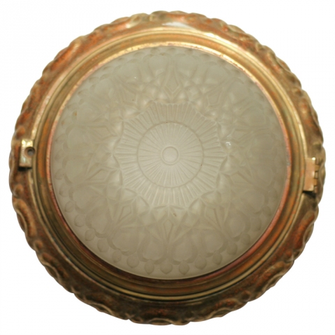 Solid Bronze Dome Ceiling Wall Light Fixture Modernism