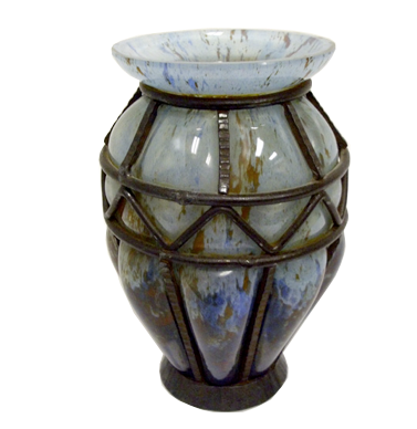 Charles Schneider French Art Deco Souffle Vase Modernism