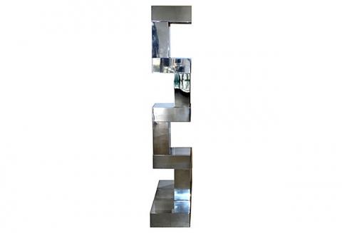Mid Century Modern Stepped Chrome Floor Lamp Modernism