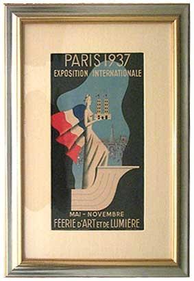 1937 Paris Exposition French Art Deco Poster Modernism