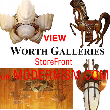 Worth galleries store front on modernism